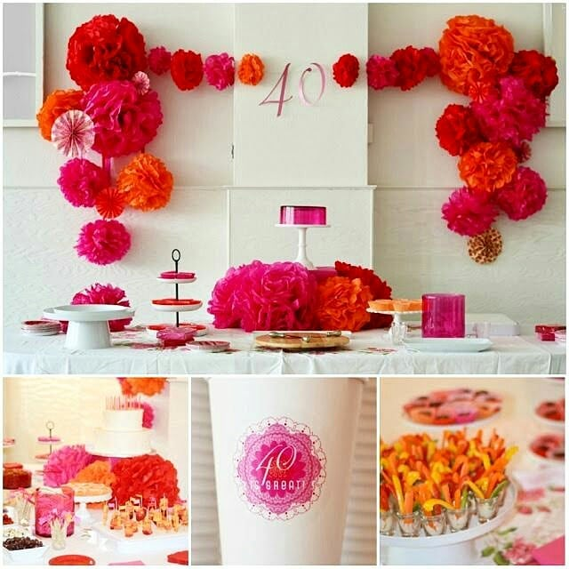 Ideas para decorar una fiesta de mujeres de 40 años o mas