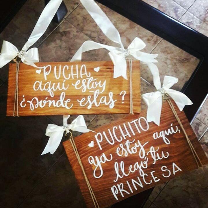 Letreros super para bodas
