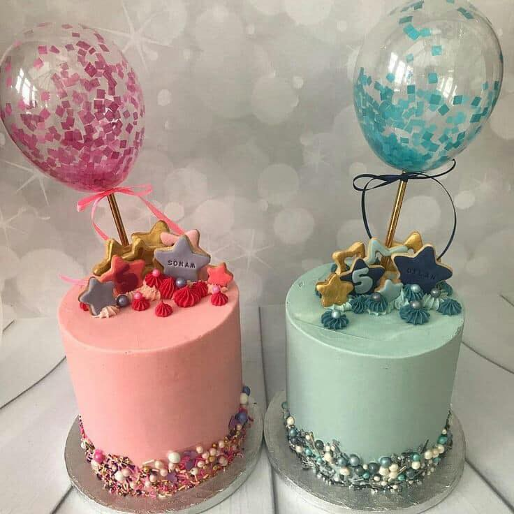 Pasteles de moda 2019 con globos