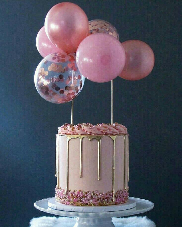 Tendencia en pasteles de boda 2019 con globos