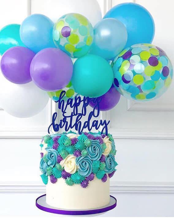 Tortas tendencia 2019 con globos