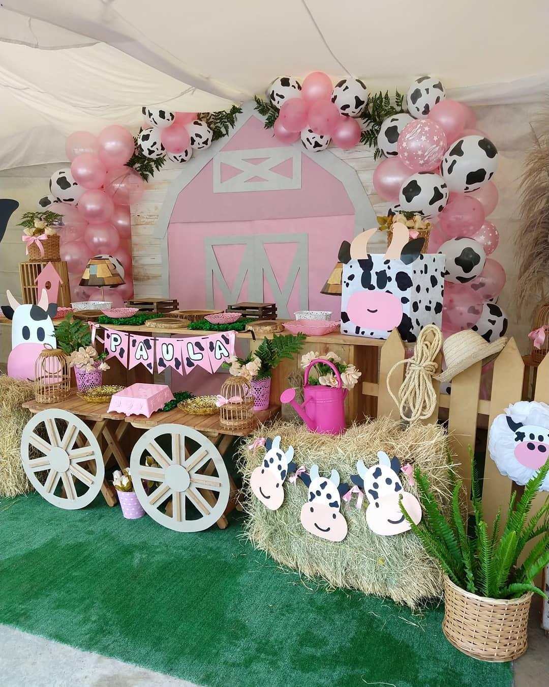 Como decorar para fiesta de la vaca lola