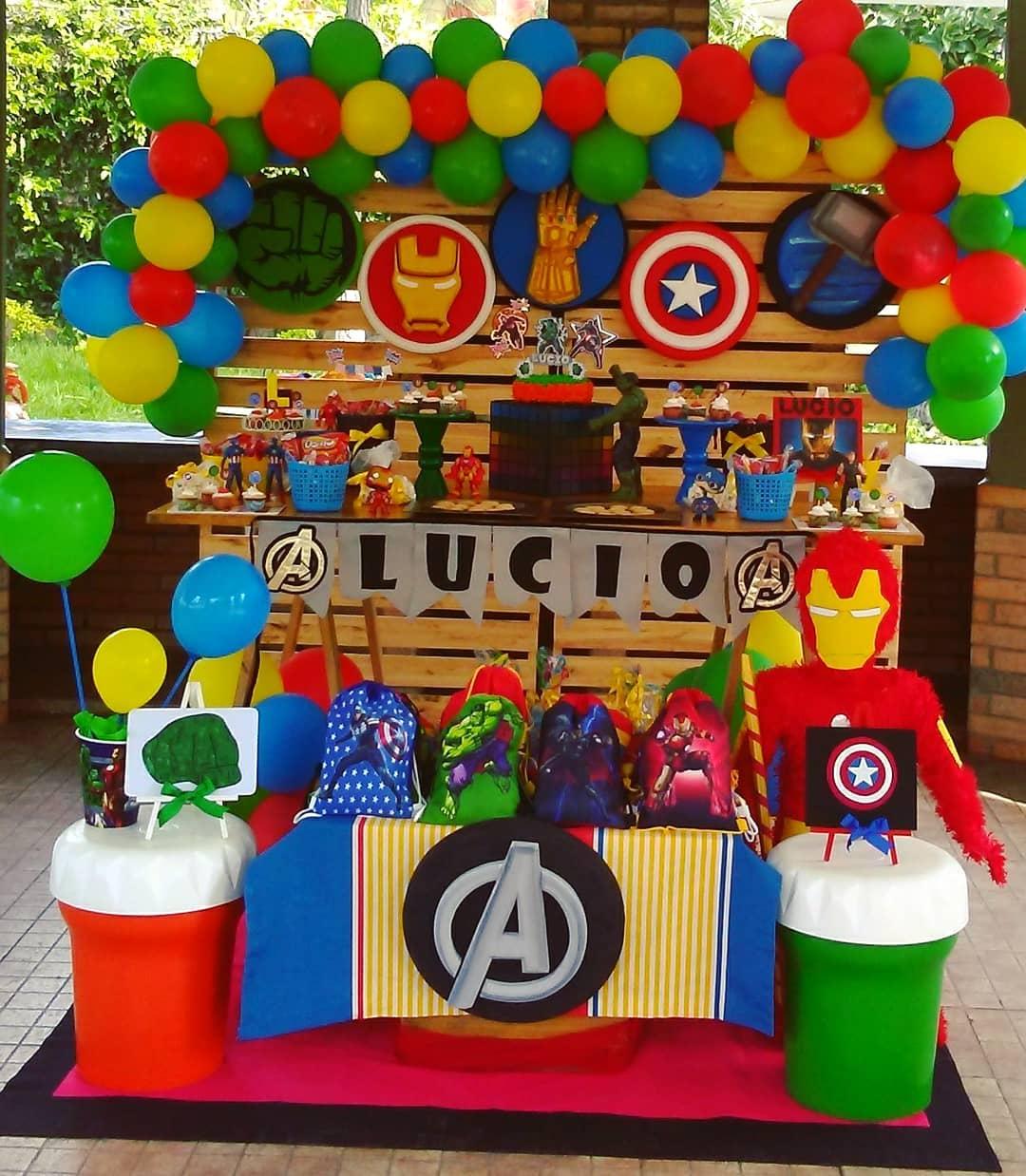 Decoracion para fiesta infantil avengers