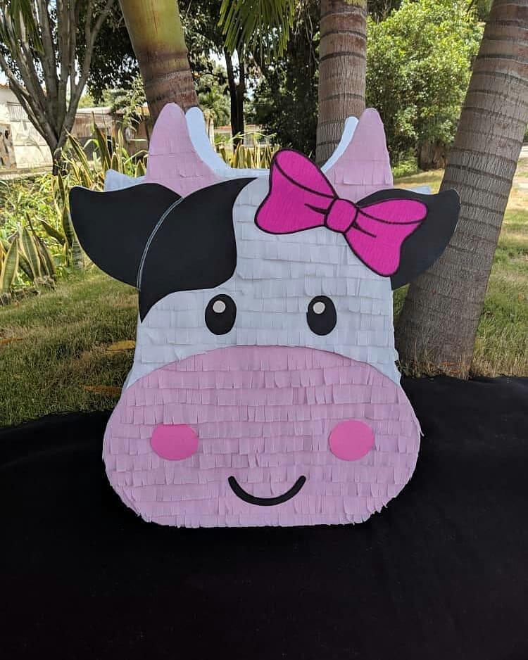Ideas de piñatas para fiesta de la vaca lola