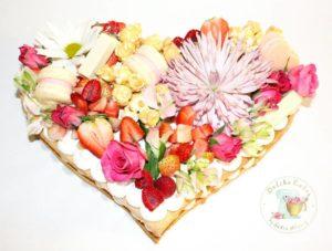 Pastel de cumpleaños corazón