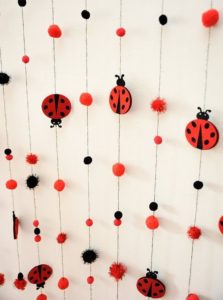 Backdrops para Fiesta de Lady bug