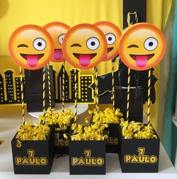 Centros de mesa para Fiestas tematicas de Emoji