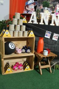 Como decorar una Mesa de dulces en Fiesta de Gravity Fall