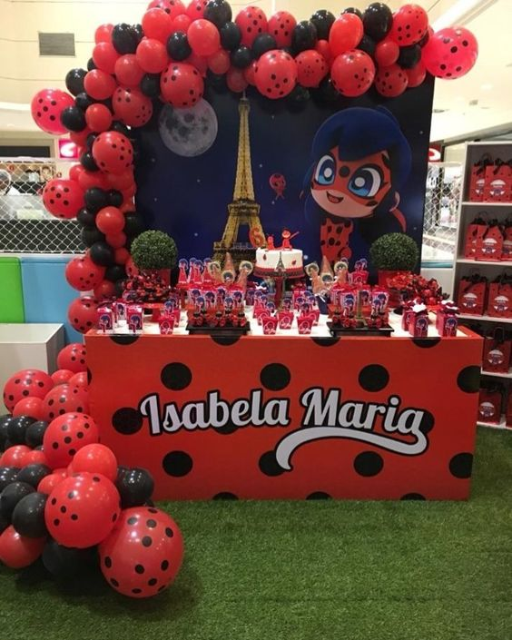 Decoracion de fiestas de Lady bug