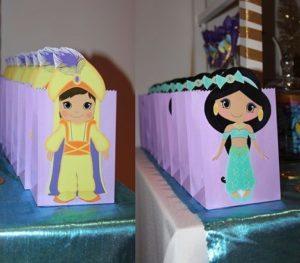 Dulceros para la fiesta de Aladin