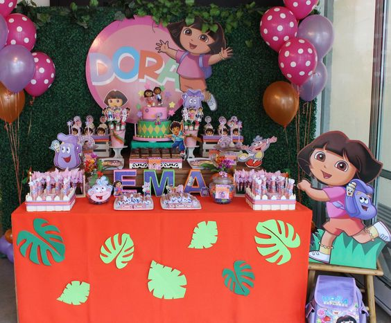 Fiesta para niña de Dora la exploradora