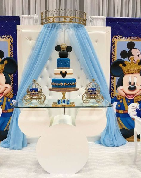 Ideas para decorar una Fiestas de Mickey Mouse principe