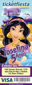 Invitaciones para Fiesta de Aladin