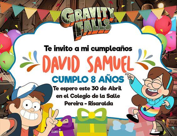 Invitaciones para una Fiesta de Gravity Fall