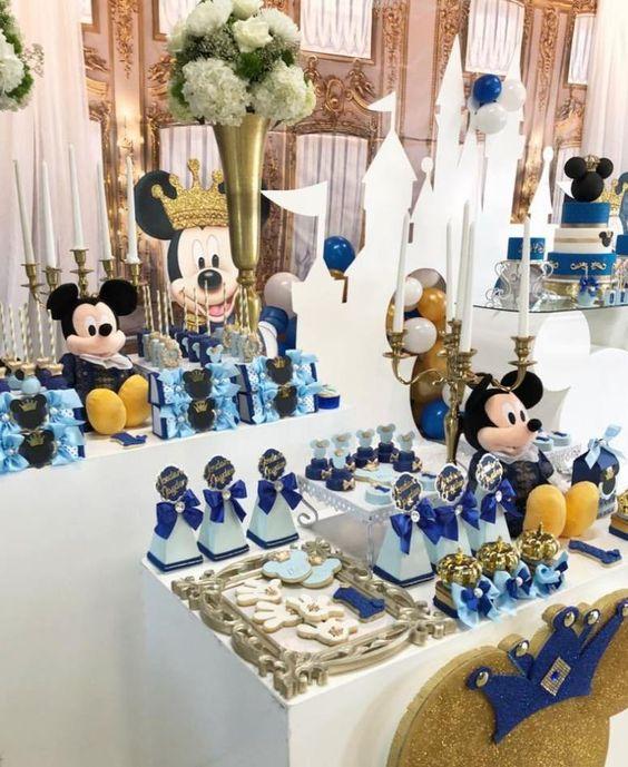 Mesa de dulces para Fiestas de Mickey Mouse príncipe