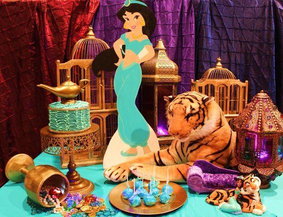 Mesa de dulces para la Fiesta de Aladin