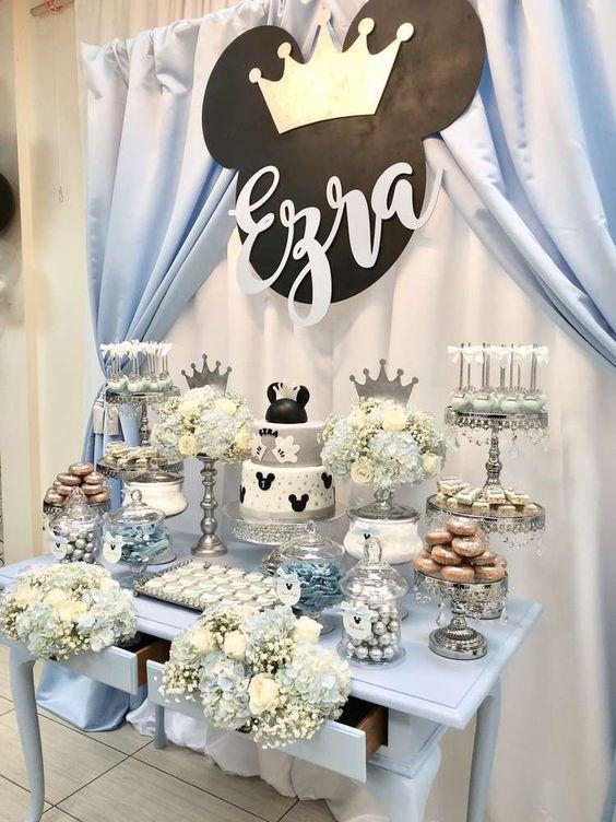 Mesa del pastel para Fiestas de Mickey Mouse príncipe