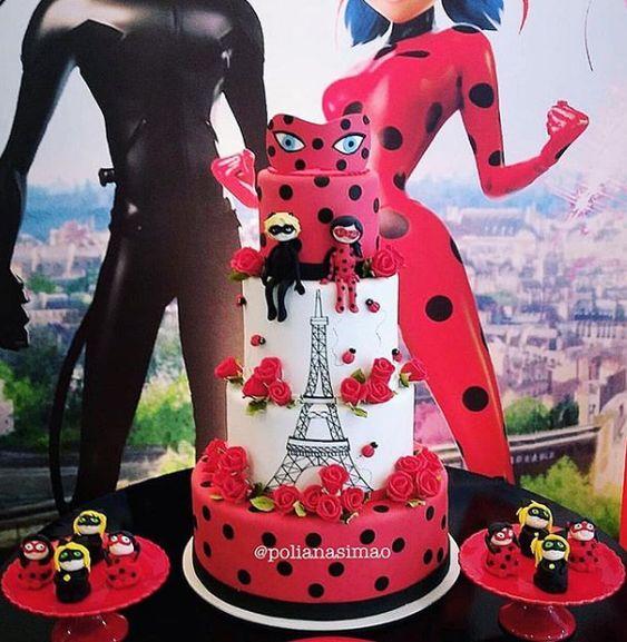 Pasteles para fiesta de Lady bug