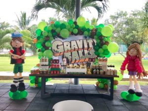 Mesa de dulces decoracion gravity fall