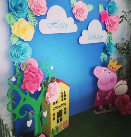Backdrops para Fiesta infantil de peppa pig