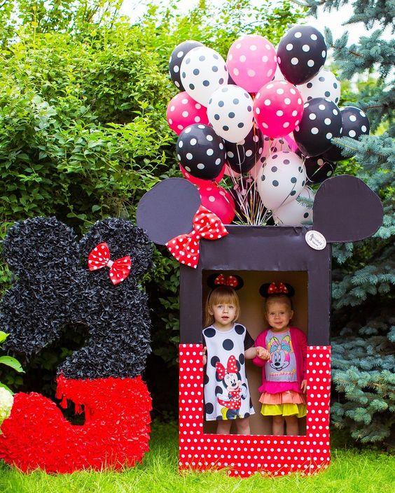 Backdrops Para Fiesta Temática De Minnie Mouse Rojo Ideas Para Las Fiestas Infantiles Para Mujeres Hombres 15 Años Y Bodas