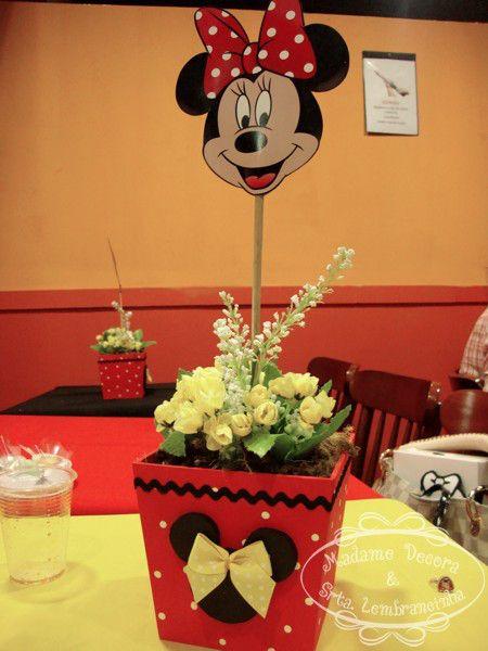 Centros de mesa minnie mouse roja