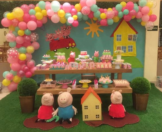Cumpleaños de peppa pig modernas