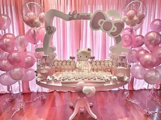Decoracion de hello kitty para cumpleaños infantiles