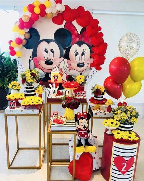Fiesta temática de Minnie mouse Rojo