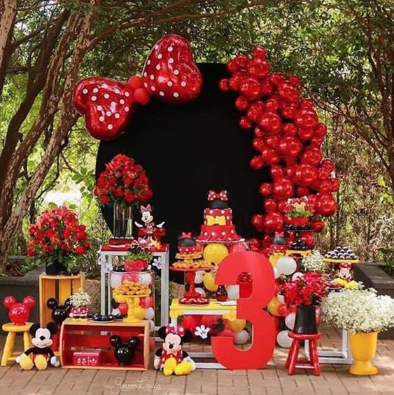 Fiesta Temática De Minnie Mouse Rojo Ideas Para Decorar La Fiesta