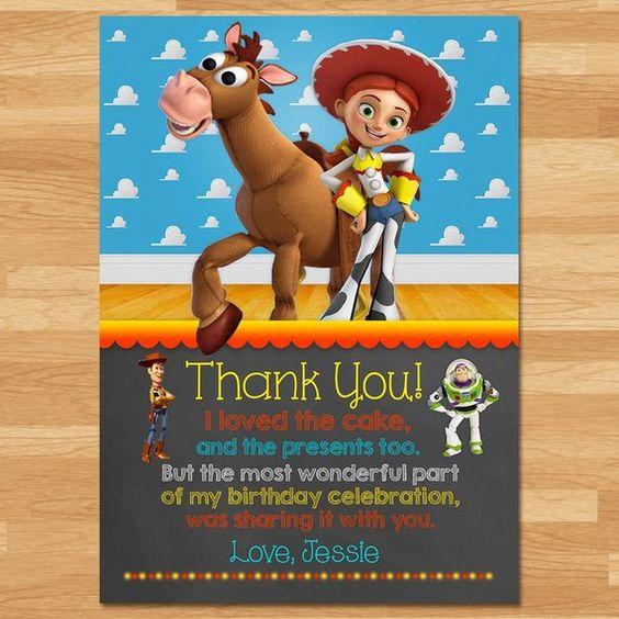 Invitaciones de Jessie de Toy Story