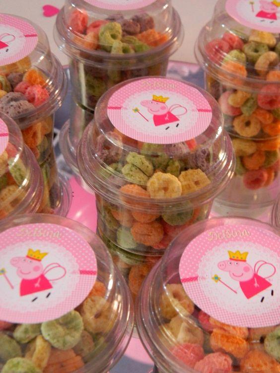 Mesa de dulces de Peppa pig la cerdita