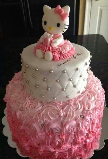 Pastel para Fiesta infantil de Hello Kitty