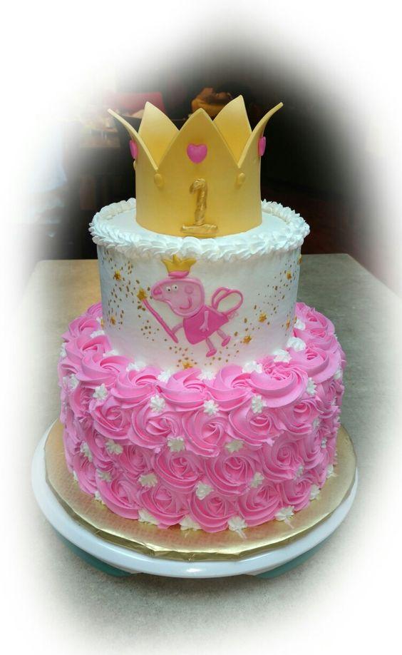 Pastel para cumpleaños de peppa pig