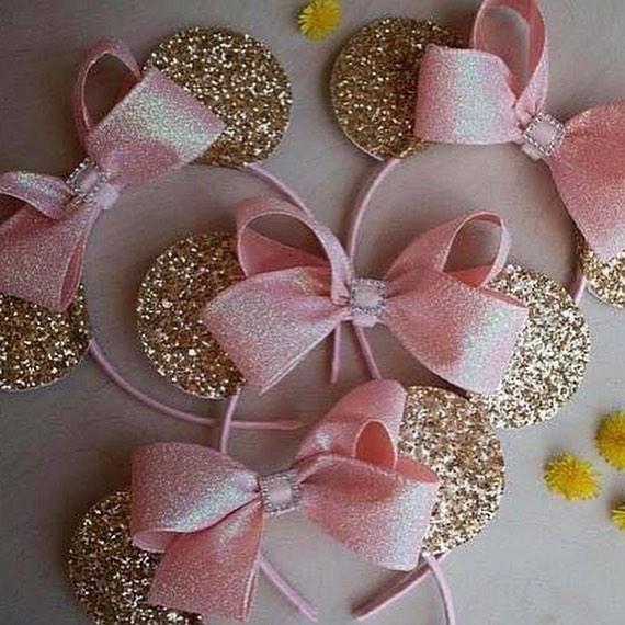 Accesorios minnie mouse rosa y dorado