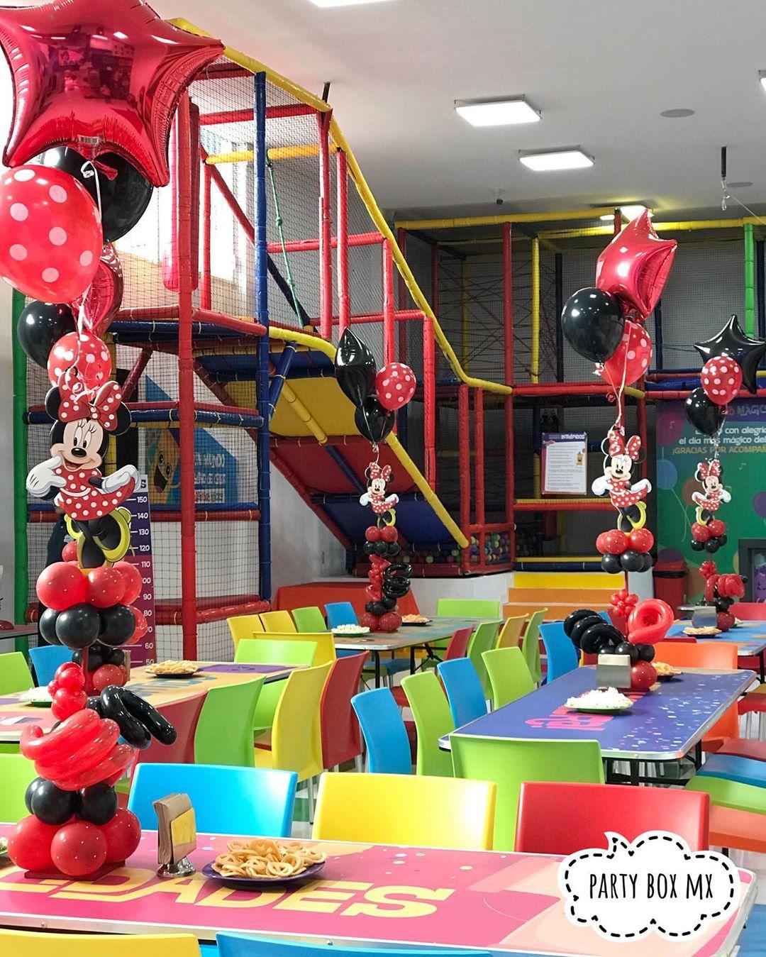 Centros de mesa minnie mouse rojo