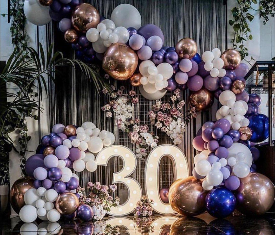 Como decorar con arcos orgánicos con globos