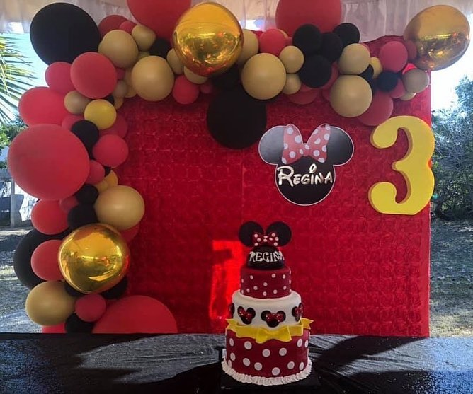 Como decorar fiesta de minnie mouse rojo