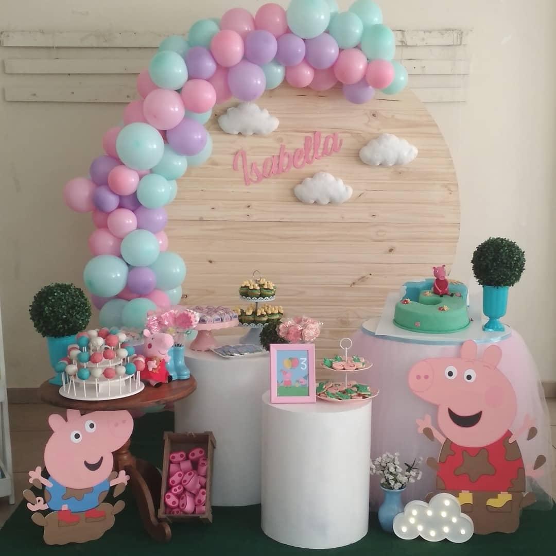 Como decorar fiesta infantil de peppa pig