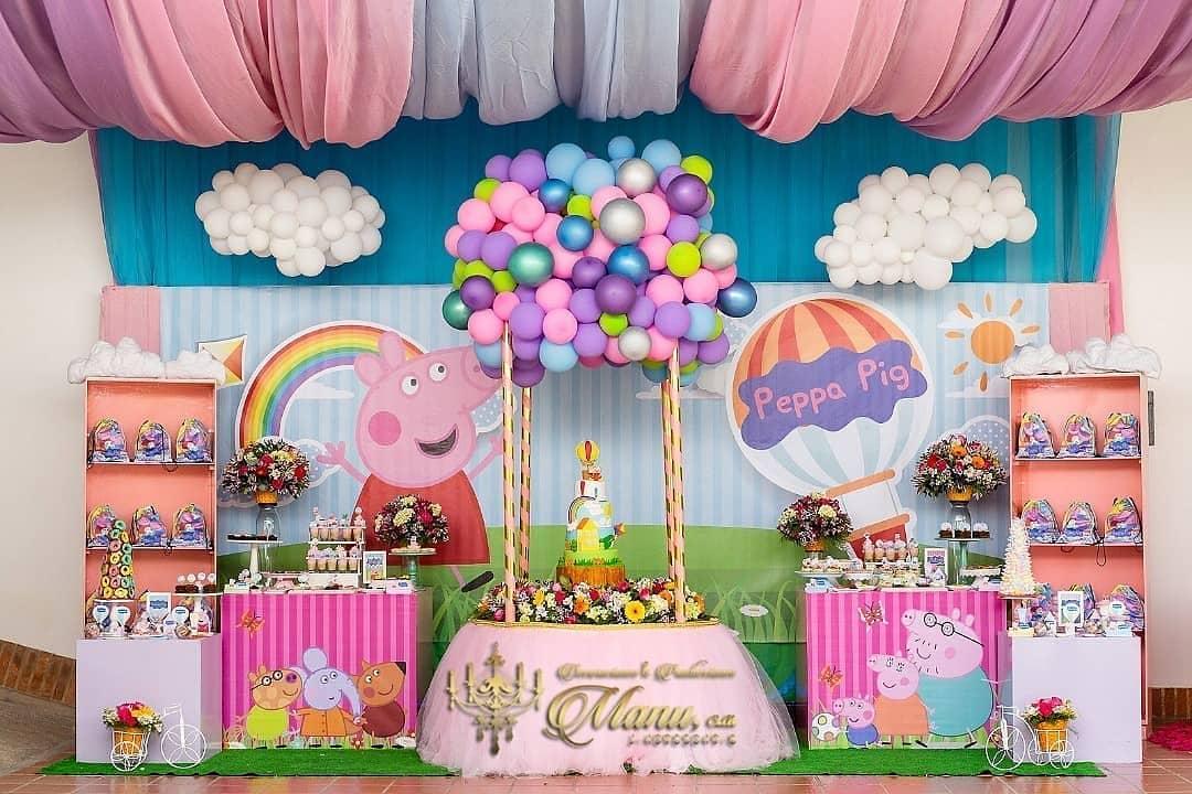 Mesa de postres fiesta infantil de peppa pig
