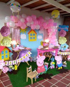 Temática fiesta infantil de peppa pig