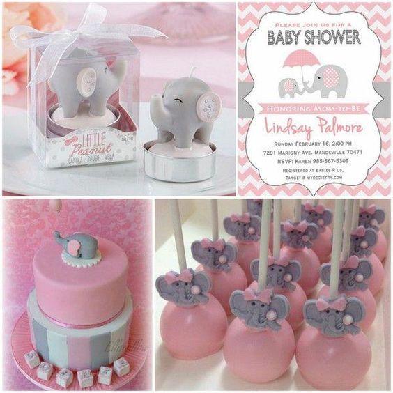 Ideas para baby shower de niña temático de elefantes