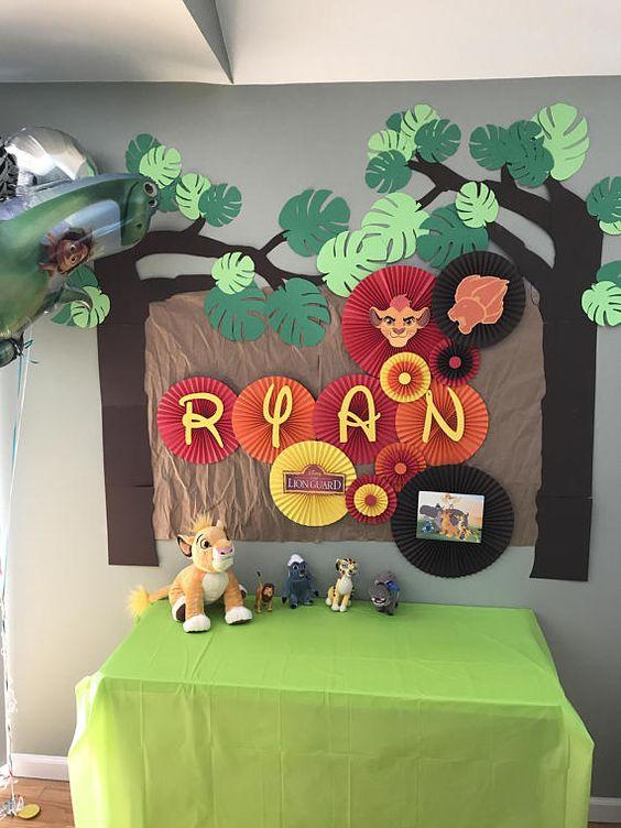 Ideas para decorar Fiesta Rey León sencilla