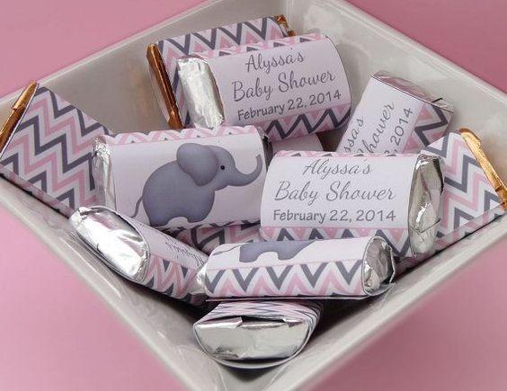 Souvenirs para baby shower elefantes niña
