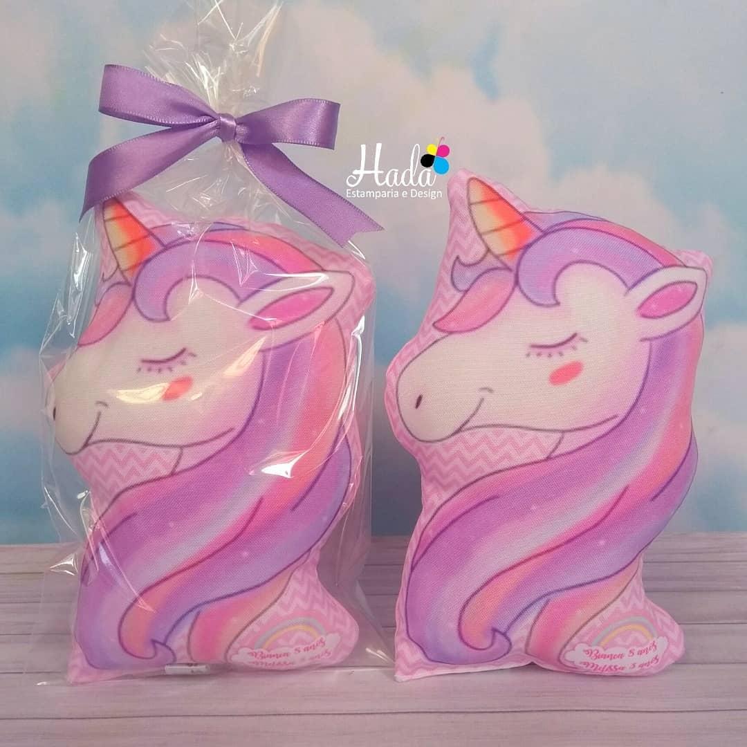 almohadas tematicas de unicornio tipo llavero para souvenirs