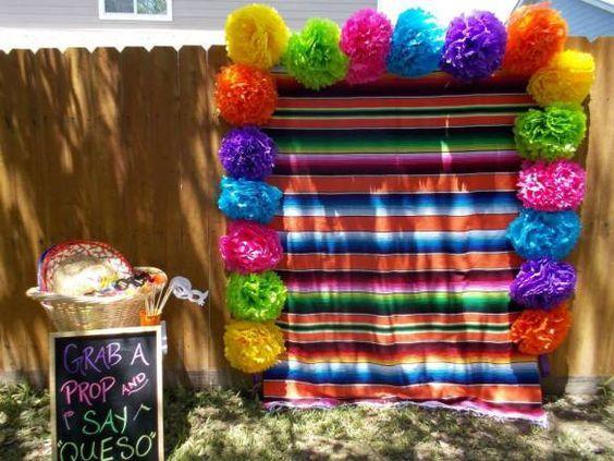 backdrops para fiesta mexicana