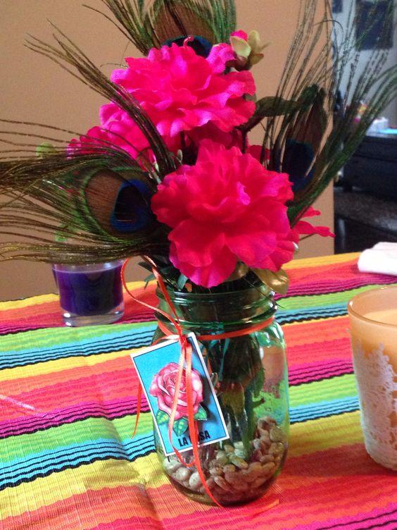 centros de mesa para un cumpleaños mexicano