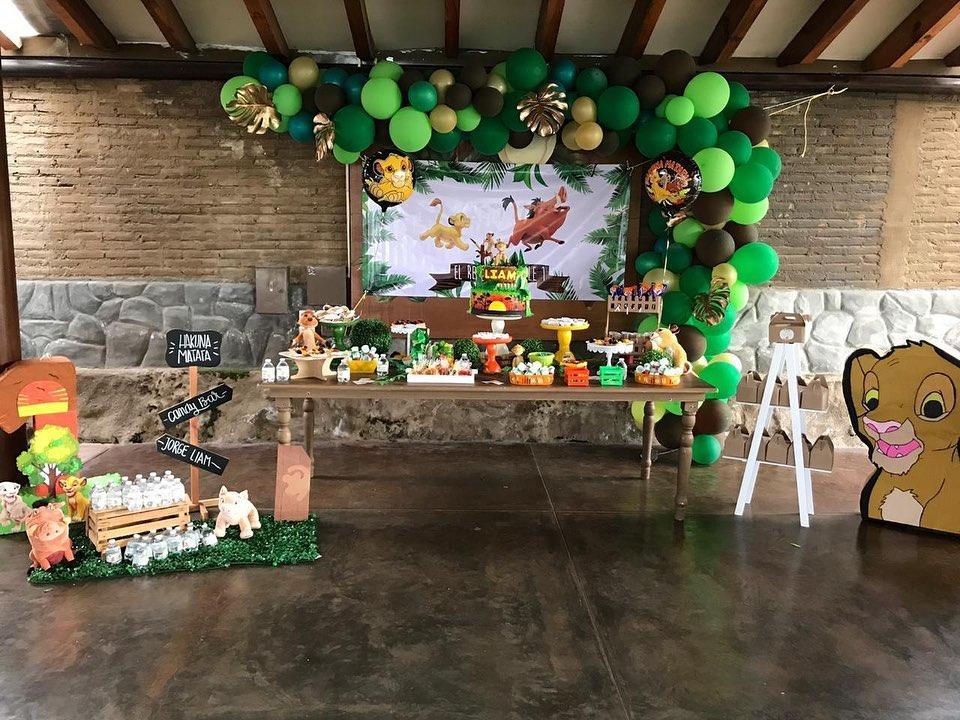 Como decorar fiesta rey león
