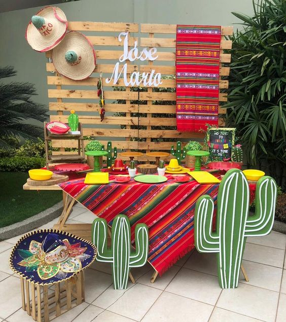 Ideas para decorar con globos una fiesta mexicana