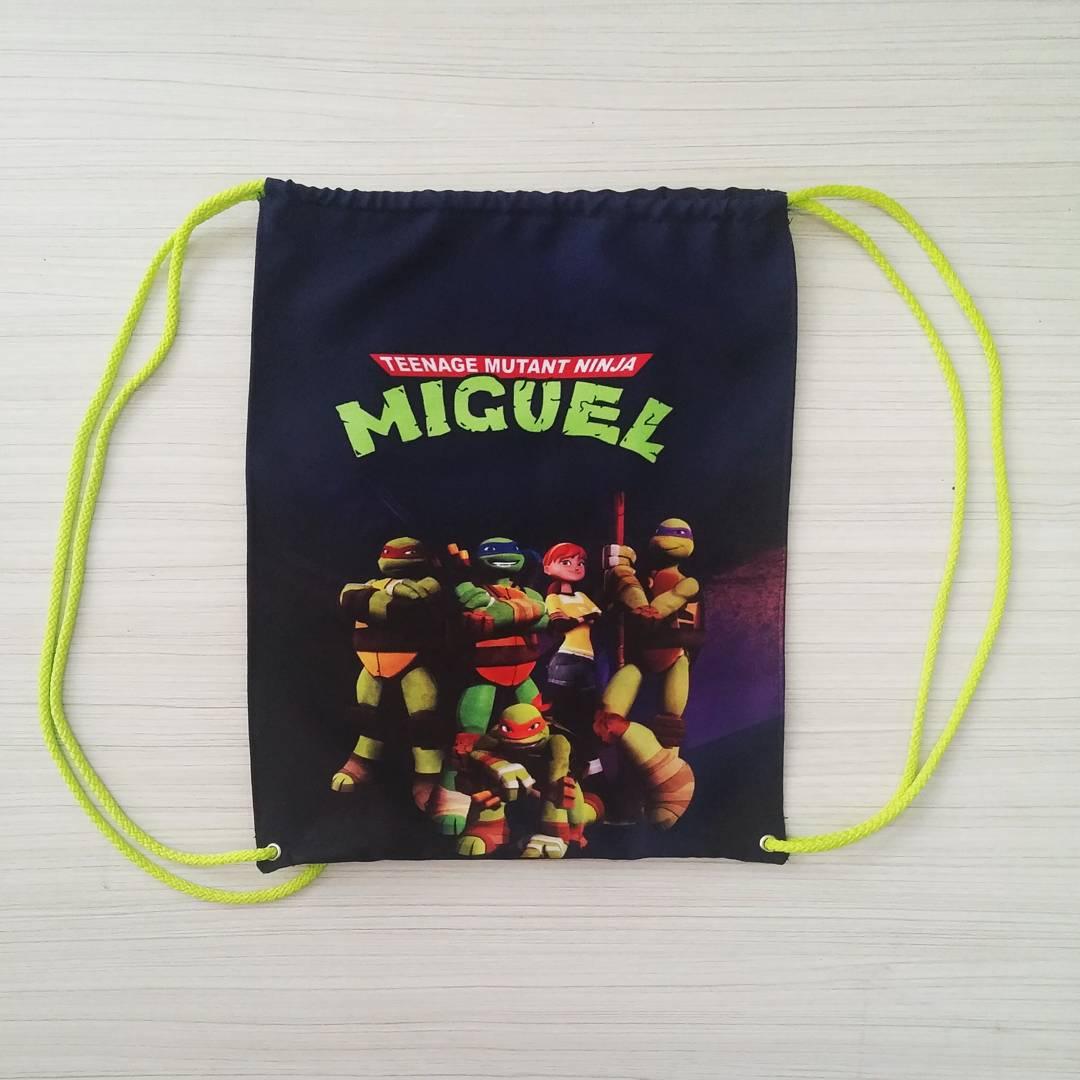dulcero tipo mochila para cumpleaños de tortuga ninja